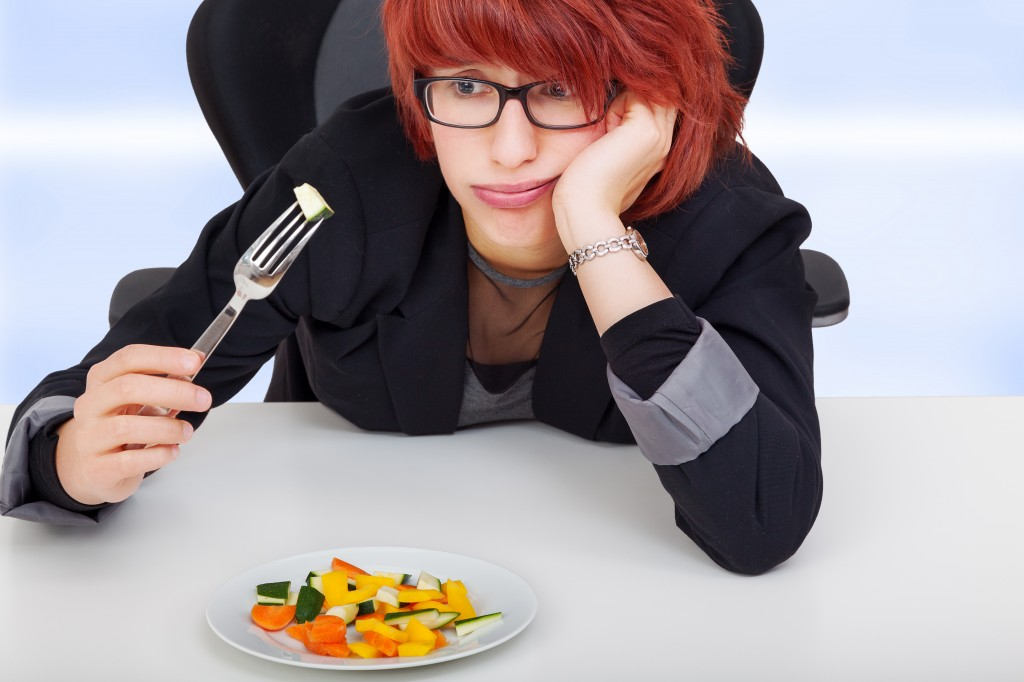 Women do not like their vegetable salad